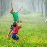 Kids playing outdoors